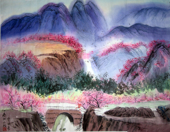 Gorgeous Landscape In Pink