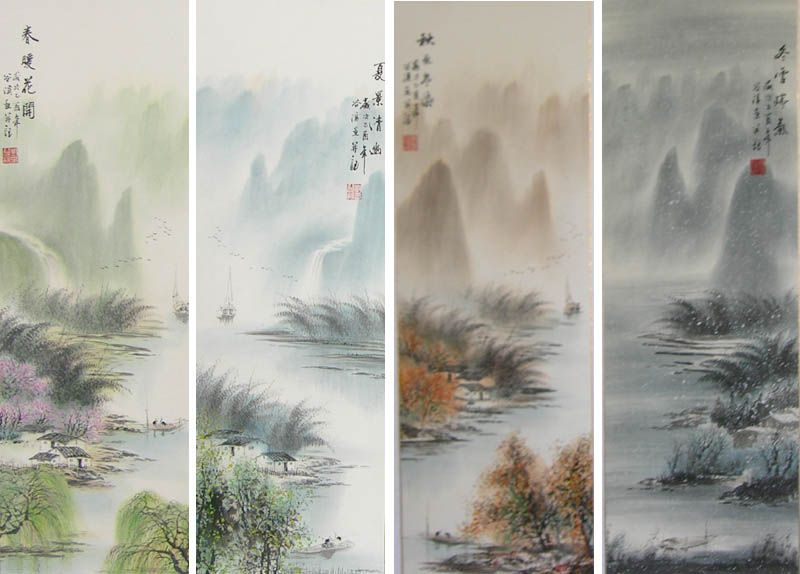 Four Seasons Landscape For Ecology